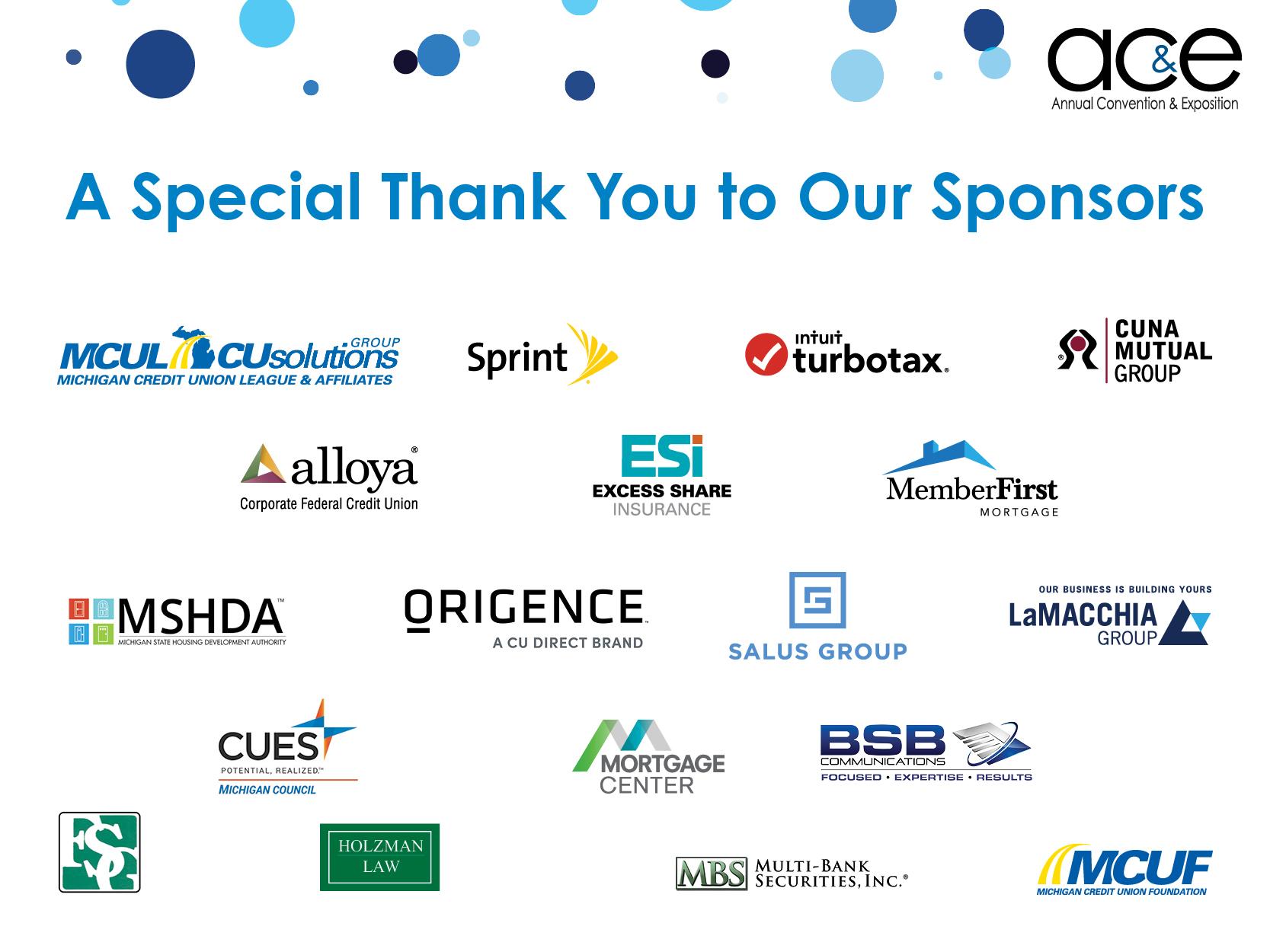 AC&E Sponsor Appreciation